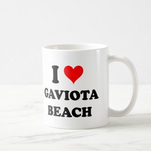 Amo la playa California de Gaviota Taza De Café
