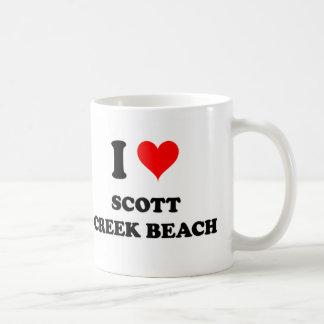 Amo la playa California de la cala de Scott Taza Básica Blanca