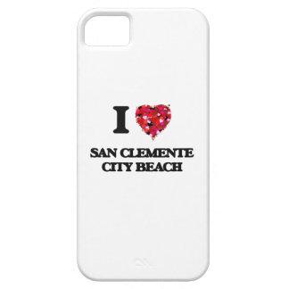 Amo la playa California de la ciudad de San iPhone 5 Funda