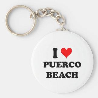 Amo la playa California de Puerco Llaveros Personalizados