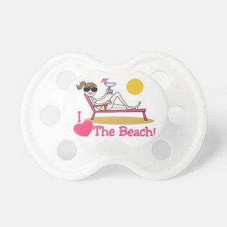 Amo la playa chupete