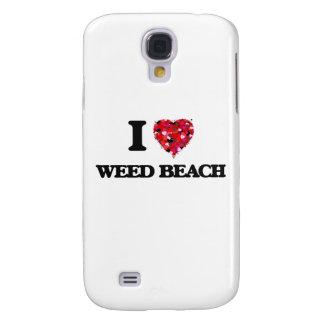Amo la playa Connecticut de la mala hierba Funda Para Galaxy S4