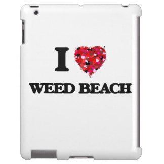 Amo la playa Connecticut de la mala hierba Funda Para iPad