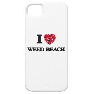 Amo la playa Connecticut de la mala hierba iPhone 5 Funda