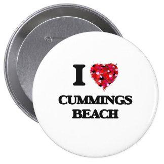 Amo la playa Connecticut de los Cummings Pin Redondo 10 Cm