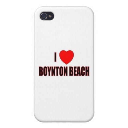 Amo la playa de Boynton iPhone 4 Fundas