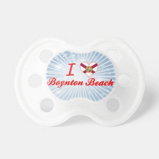 Amo la playa de Boynton, la Florida Chupetes Para Bebes