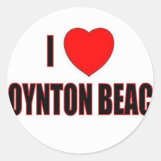 Amo la playa de Boynton Pegatina Redonda