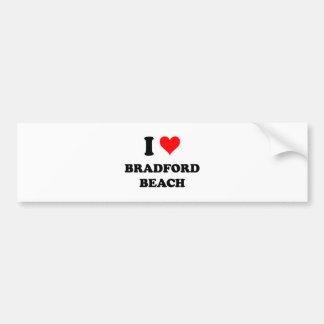 Amo la playa de Bradford Pegatina De Parachoque