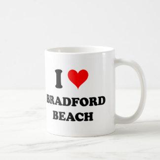 Amo la playa de Bradford Tazas De Café
