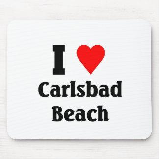 Amo la playa de Carlsbad Alfombrillas De Ratones