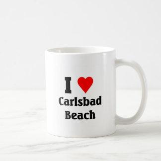 Amo la playa de Carlsbad Taza