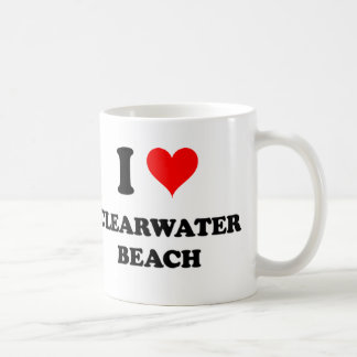 Amo la playa de Clearwater Tazas