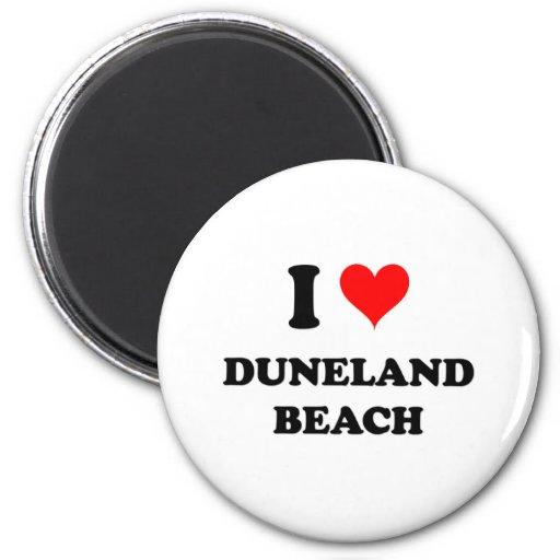 Amo la playa de Duneland Iman Para Frigorífico