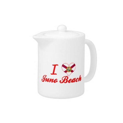 Amo la playa de Juno, la Florida