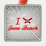 Amo la playa de Juno, la Florida Ornamente De Reyes