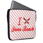 Amo la playa de Juno, la Florida Fundas Portátiles