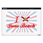 Amo la playa de Juno, la Florida Portátil 38,1cm Skin