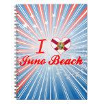 Amo la playa de Juno, la Florida Libros De Apuntes