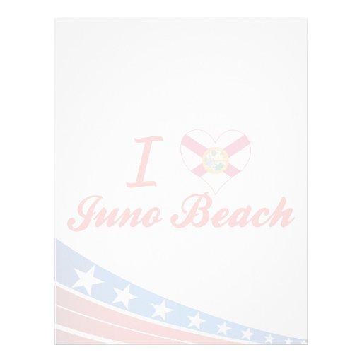 Amo la playa de Juno, la Florida Membretes Personalizados
