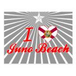 Amo la playa de Juno, la Florida Tarjeta Postal