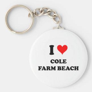 Amo la playa de la granja del col llavero