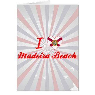 Amo la playa de Madeira, la Florida Tarjetas