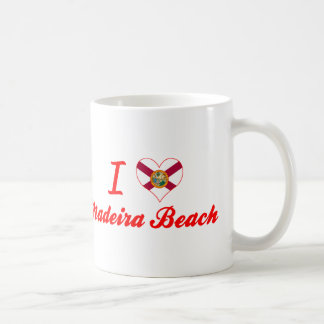 Amo la playa de Madeira, la Florida Taza De Café