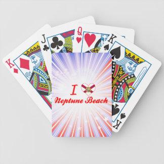 Amo la playa de Neptuno, la Florida Baraja Cartas De Poker