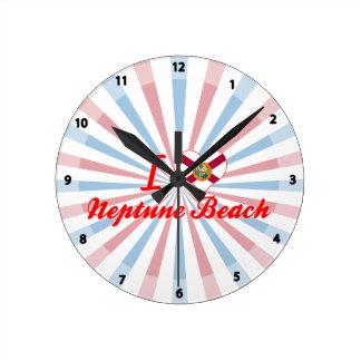 Amo la playa de Neptuno, la Florida Relojes