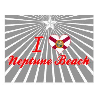 Amo la playa de Neptuno, la Florida Tarjeta Postal