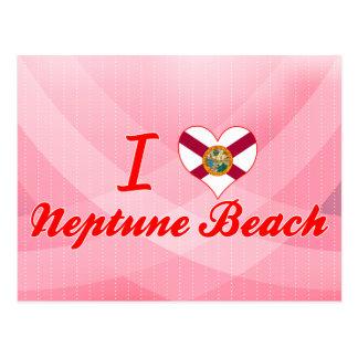 Amo la playa de Neptuno, la Florida Postal