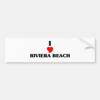 Amo la playa de Riviera Pegatina Para Auto