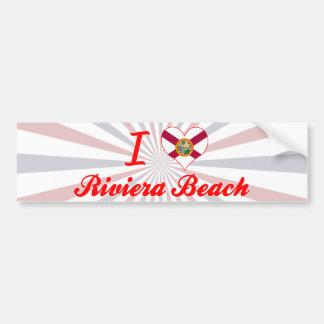Amo la playa de Riviera, la Florida Pegatina Para Auto