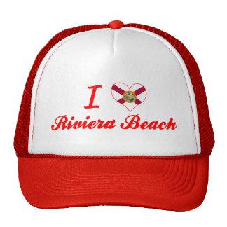 Amo la playa de Riviera, la Florida Gorros Bordados