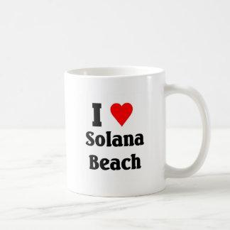 Amo la playa de Solana Taza De Café