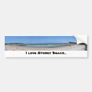 Amo la playa de Stoney… Pegatina De Parachoque