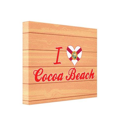 Amo la playa del cacao, la Florida Impresiones En Lona Estiradas