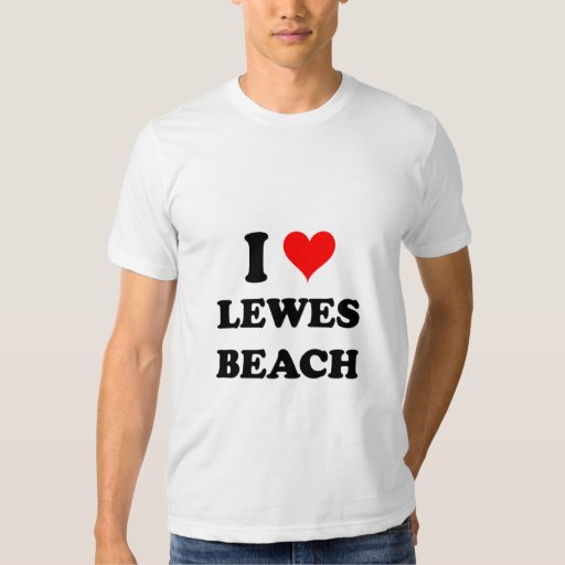 Amo la playa Delaware de Lewes Playera