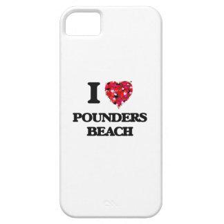 Amo la playa Hawaii de los trituradores iPhone 5 Funda