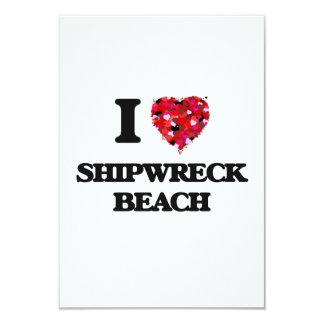 """Amo la playa Hawaii del naufragio Invitación 3.5"""" X 5"""""""