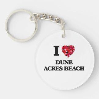 Amo la playa Indiana de los acres de la duna Llavero Redondo Acrílico A Una Cara
