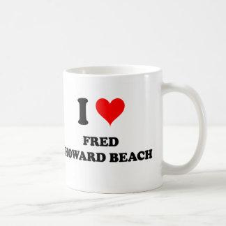 Amo la playa la Florida de Fred Howard Taza De Café