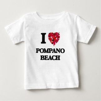 Amo la playa la Florida del pompano Playeras