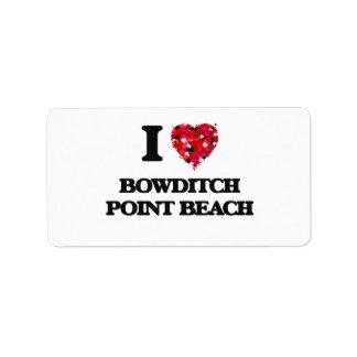 Amo la playa la Florida del punto de Bowditch Etiqueta De Dirección