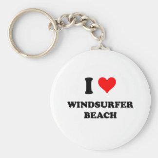 Amo la playa la Florida del Windsurfer Llaveros