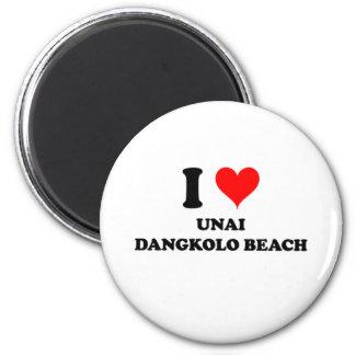 Amo la playa Mariana Island septentrional de Unai  Imán Redondo 5 Cm