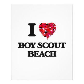 "Amo la playa Maryland del boy scout Folleto 4.5"" X 5.6"""
