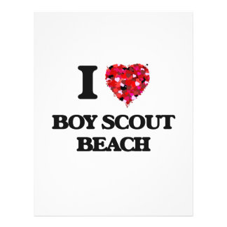 "Amo la playa Maryland del boy scout Folleto 8.5"" X 11"""
