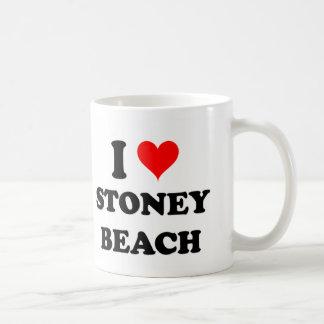 Amo la playa Massachusetts de Stoney Taza De Café